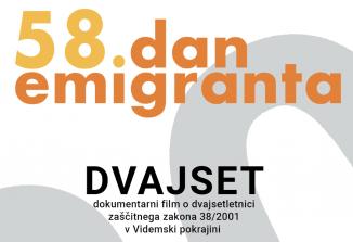 Dokumentarec Dvajset namesto Dneva emigranta