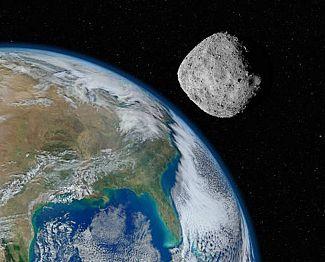Asteroid kot avtomobil šel mimo Zemlje