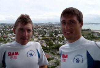 Simon Sivitz Košuta in Jaš Farneti, zamejska jadralca jadralnega kluba Čupa iz Sesljana, sta nova evropska mladinska prvaka!