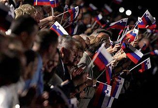 Slovenija v ideološkem in političnem pogledu razdeljena država