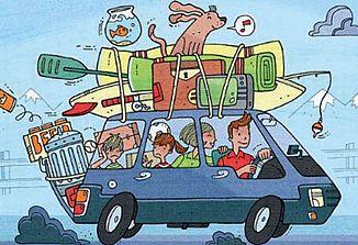 Med počitnicami ženske pakirajo, moški pa vozijo