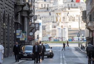 Papež Frančišek v nedeljo popoldne obiskal baziliko Marije Velike in cerkev sv. Marcela