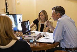 Slovenski predsednik Borut Pahor se je pogovarjal s predstavniki slovenske manjšine v Italiji