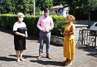 Klemen Miklavič na obisku v Kulturnem centru Lojze Bratuž