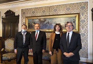 Predsednika krovnih organizacij in generalni konzul Vojko Volk na obisku pri županu Robertu Dipiazzi