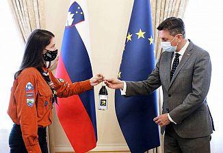 Predsednik Pahor je sprejel Luč miru iz Betlehema