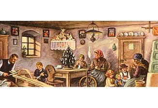 Žar božičnega časa v odkruških spominov iz nekdanjih dni