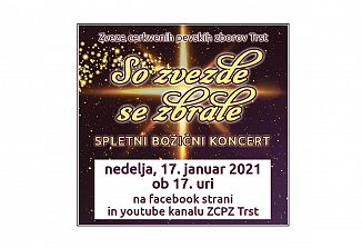 Božični koncert ZCPZ tokrat po spletu
