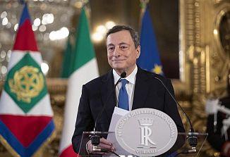 Premier Draghi je danes prisegel na Kvirinalu
