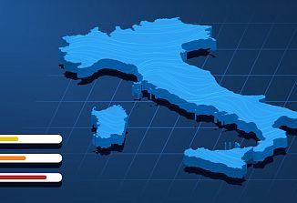 Velik del Italije drsi v rdeče območje