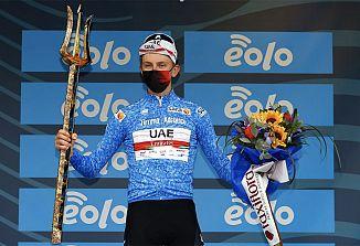 Tadej Pogačar zmagovalec dirke od Tirenskega do Jadranskega morja