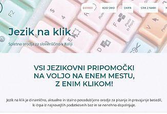 Znanje slovenščine z enim samim klikom