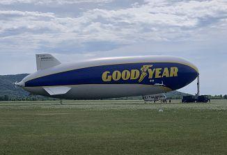 Zračno plovilo Goodyear Blimp je pristalo v Gorici