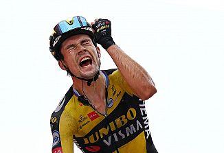 Slovenski kolesarski as Primož Roglič tretjič zapored osvojil dirko po Španiji