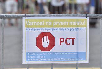 Pogoj PCT z izjemami obvezen za zaposlene in uporabnike storitev