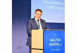 Predsednik SSO na otvoritvenem srečanju 65. kongresa FUEN