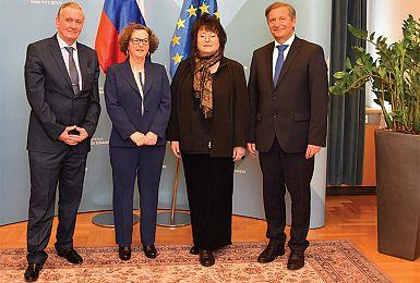 Tatjana Rojc na institucionalnem obisku v Ljubljani