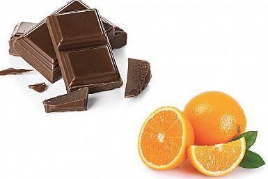 Dve pomaranči, čokolada in sneg