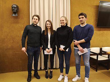Letošnje štipendije so prejeli štirje študentje
