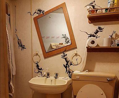 Banksy tokrat iz izolacije