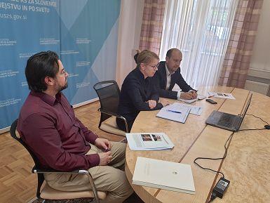 Ministrica dr. Helena Jaklitsch in državni sekretar dr. Dejan Valentinčič s predstavniki SGZ in SDGZ