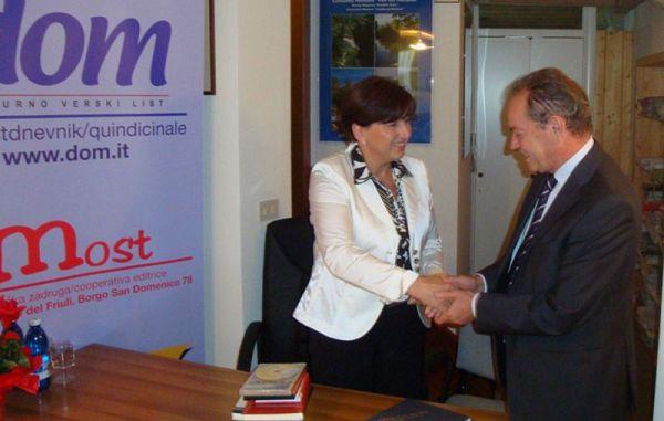 Zahvala ministrici Novakovi za obisk v Benečiji