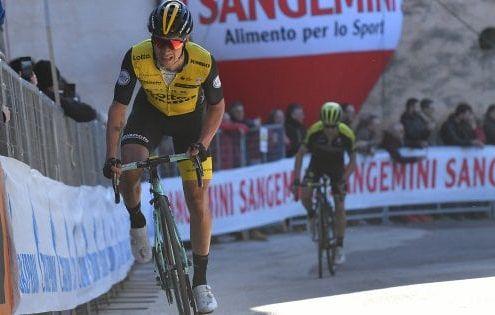Primož Roglič je zmagovalec tretje etape dirke od Tirenskega do Jadranskega morja.