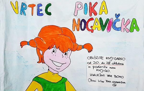 Otroci vrtca Pika Nogavička iz Štandreža vabijo k nakupu knjig