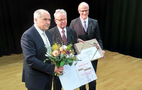 Zaslužni prejemnik je dr. Janko Zerzer