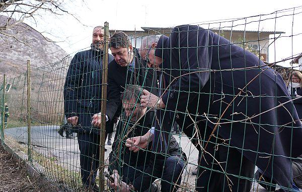 Gorica – Solkan / Simbolična odstranitev ograje 13.2.2019