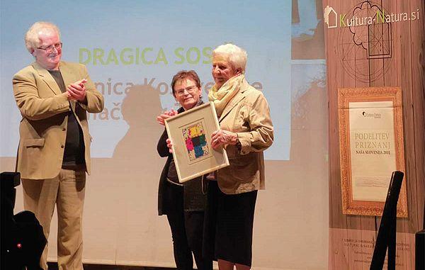 Med nagrajenci Dragica Sosič
