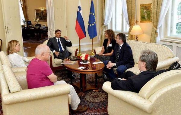 Slovenski predsednik Borut Pahor se je sestal s predsednikoma krovnih organizacij v Italiji