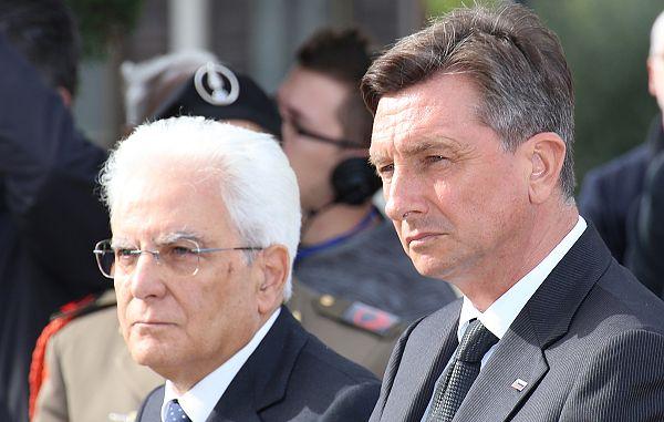 Pozdrav krovnih organizacij prihodu dveh predsednikov v Trst