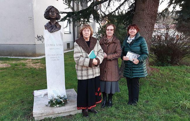 Spomeniku Ljubke Šorli na Erjavčevi ulici so vrnili sijaj
