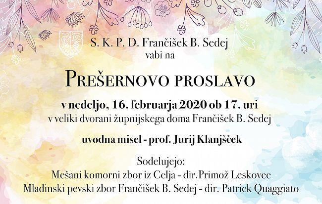 Prešernova proslava v Števerjanu